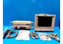HP Viridia 24C (NBP SpO2 EKG CO2 CO DTM BAM) Monitor W/ Rack Modules Leads~14031
