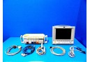 HP Viradia 24C CRITICAL CARE Color Patient Monitor W - Rack Modules & Leads  12241