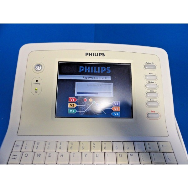 Philips PageWriter Trim III EKG / ECG System W/ Module Cart & Manual