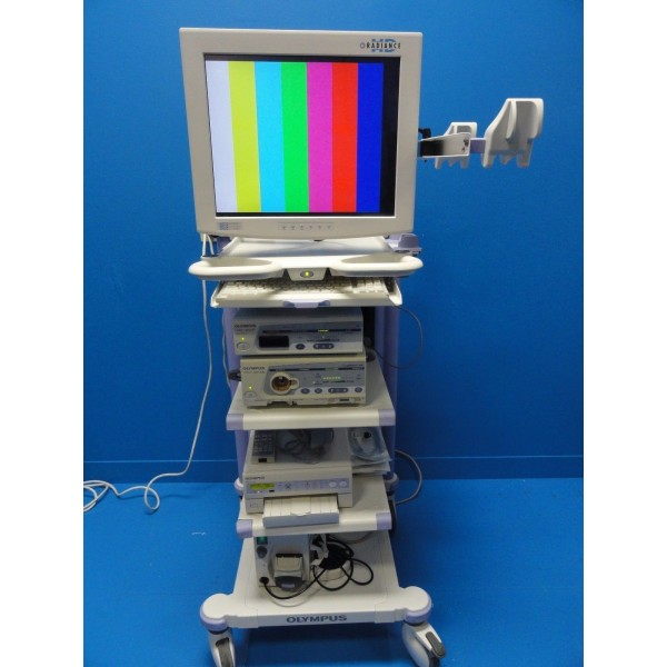 Olympus Endoscopy Tower W Otv S7 Console Clv S40 Light