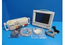 2004 PHILIPS V24C CRITICAL CARDIAC CARE TOUCH SCREEN MONITOR W/ NEW LEADS~14530