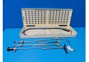 Circon ACMI Cystoscopy (Scope Sheath Obturator) Instruments Set W/ Case ~14988