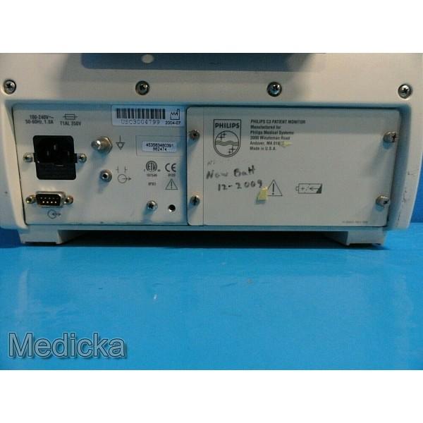 Philips Medical C3 Patient Monitor W/ ECG Cable SpO2 Sesnor
