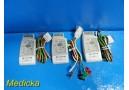 3X Philips 862108 & M2601B ECG Transmitter Modules W/ ECG Cable ~ 20158