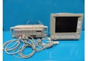 HP OmniCare 24 Anesthesia Patient Care Monitor W/ Rack Modules & Leads~14026