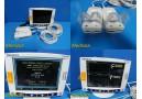 Somanetics 5100C Invos Oximeter Cerebral/Somatic Monitor W/ Pre-Amps ~ 23280