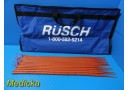 Rusch 26 Fr to 54 Fr Maloney Esophageal Dilators/Bougies W/ Carrying Case ~23633